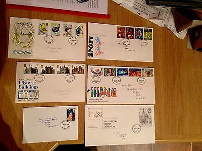 UK first day covers 6 in total from 1970s and 1980s