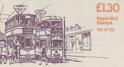 GB QEII 1985 CYL Booklet FL4B -  No 2 Trams Series - £1.30