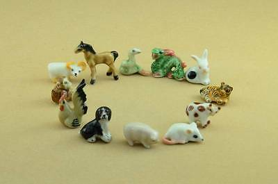 2017 Year Of The Rooster/chinese Zodiac Horoscope Figurine Full Set/12 Figurines