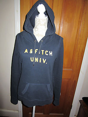 Ladies Abercrombie and Fitch Hooded Sweatshirt  Navy Size M