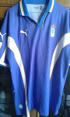 REAL OVIEDO MUSEO VINTAGE 8/10 camiseta futbol football shirt L