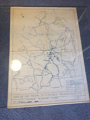 Massachusetts Middlesex County Map Town of Lincoln
