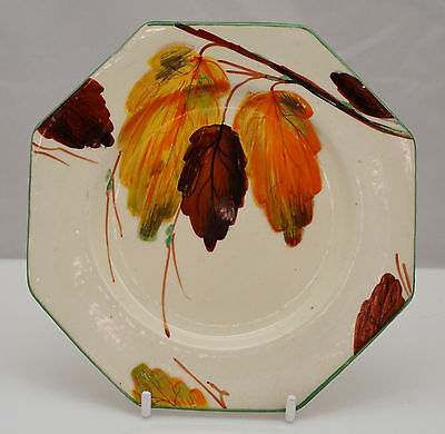 Wilkinson Pottery Art Deco Sep 30 8927 Beech Leaves Clarice Cliff Interest Plate