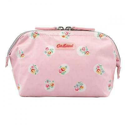 BNWT Cath Kidston Wire Frame Pink Floral Spot Make Up Bag