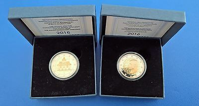 "GRIECHENLAND 2x2 Euro  2016 "" Arcadi Kloster & Dimitri Mitropoulos "" Proof  PP"