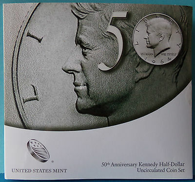 USA 50th Anniversary Kennedy 2014 Half-Dollar Uncirculated Coin Set