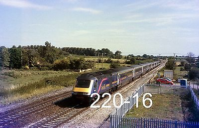 Original 35mm colour slide of HST at Cogload Jcn with a Penzance train (220-16)