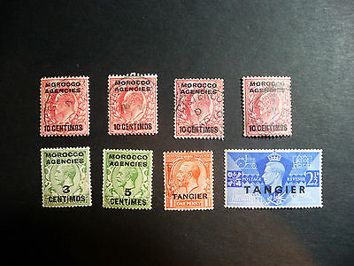 Morocco Agencies Tangier Collection Stamps King Edward VII George V VI #1057