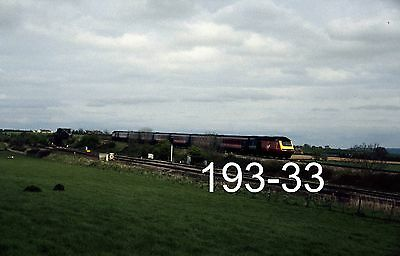 Original 35mm colour slide of HST at Cogload Jcn with a Plymouth train (193-33)