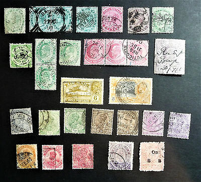 India Old Collection Stamps Queen Victoria QV King George V KGV Air Mail #1056