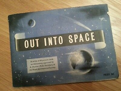 Brooke Bond  Pg Tips Out Into Space Complete Stuck Down Album 1956