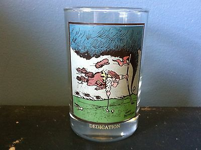 """1982 Arby's Collectors Series Gary Patterson Golf """"Dedication"""" Drinking Glass"""