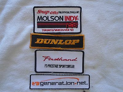 Snap-On Indy Racing/Pit crew Embroidery Badge/Crest/Patch + Others