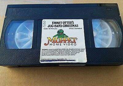 Muppet Home Video Emmet Otter's Jug Band Christmas VHS  from 1977 used very rare