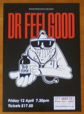 Dr Feelgood 2013 Uk Tour Flyer