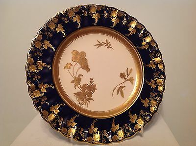 Copeland 19th century Cobalt Blue and Gold Plate