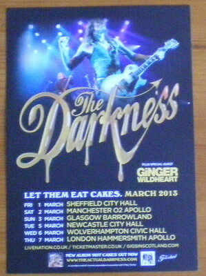 The Darkness 2013 Uk Tour Flyer