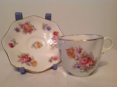 Coalport Miniature Hand Painted Cup and Saucer