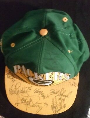 Green Bay Packers Hat With 16 Autographs from 1994 roster