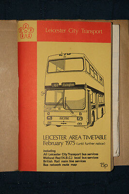 Leicester City transport - Area Timetable - 1975