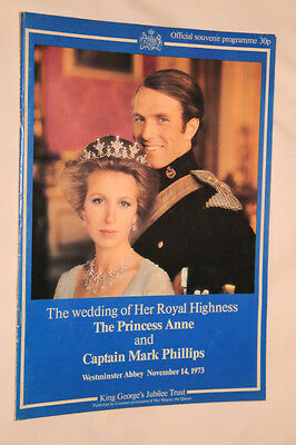 Official Souvenir programme of H.R.H.The Princess Anne and Capt Mark Phillips