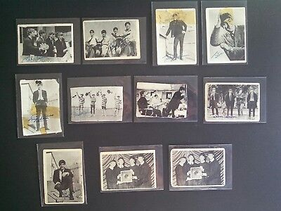 Beatles Lot of 11 - A & BC Chewing Gum Cards ABC NEMS RARE