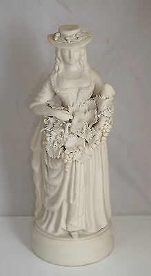 Staffordshire Victorian Quality Parian Woman Grape Picker