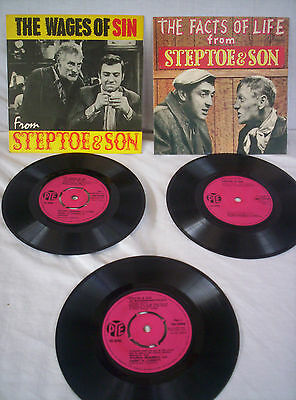 3 X Steptoe & Son,1963, Facts Of Life, Wages Of Sin, Buck Palace, Ex Condition