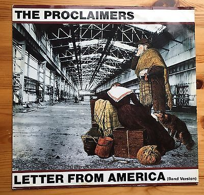 """The Proclaimers Letter From America 12"""" Vinyl Single."""