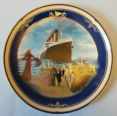 LIMITED EDITION PLATE NO3 TITANIC QUEEN OF THE OCEAN ON THE PROMENADE date 1999