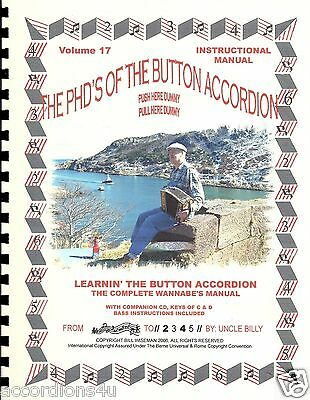 Button Accordion Learners Manual, For 1, 2 & 3 Row, Easy &  Fun Learn By Numbers
