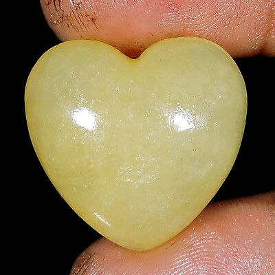 46.50cts NATURAL RARE TOP  AVENTURINE HAND MADE HEART CARVING GEMSTONES