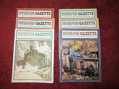 Narrow Gauge & Short Line Gazette 6 issues from 1985 - HOn3, On30, On3, Sn3, LGB