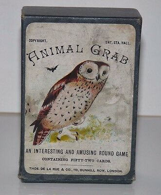 Animal Grab Vintage Card Game Complete with Box and Instructions, De La Rue & Co