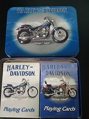 Harley Davidson Springer Solftail Collectors Tin with playing cards