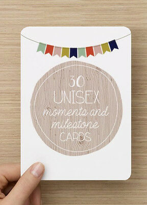 ON SALE- Unisex Baby Moments and Milestones Cards - 30 Pack Brand New and Sealed