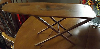 "Antique MIniature Wooden Ironing Board. About 18"" Long."