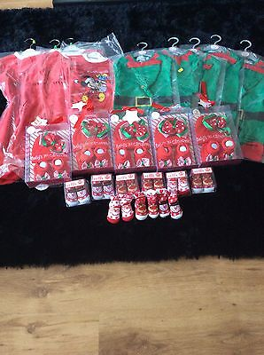 Christmas Clearence Job Lot Of Baby Grows And Booties