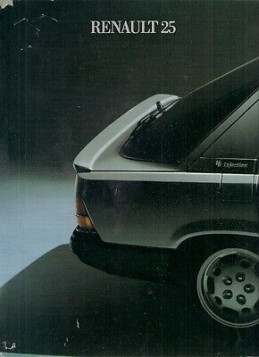 Renault 25 1984-85 French Market Launch Foldout Sales Brochure