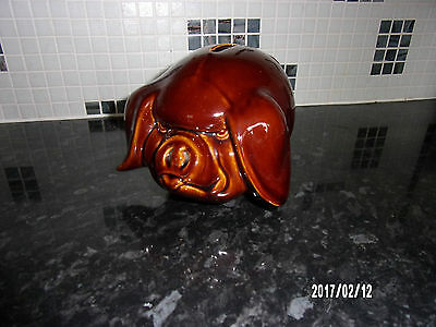 Vintage Dartmouth Pottery Large Piggy Bank