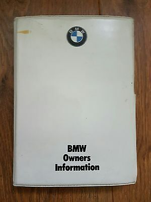 BMW e30 pre facelift owners hand book folder with manuals 325i 320i 318i 316