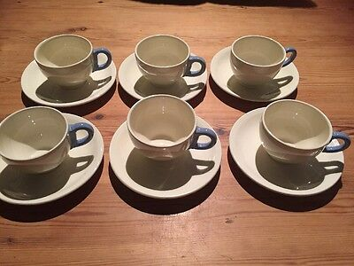 Vintage 50s Grindley Coffee Cups X 6 Proportions May Suit Child's Tea Party
