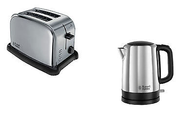 Russell Hobbs Polished Stainless Steel Kettle And 2 Slice Toaster Set