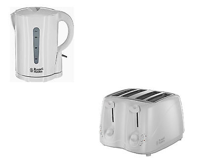 Russell Hobbs Essentials Kettle And 4 Slice Compact Toaster Set In White