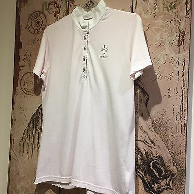 Pikeur Crystal Ladies Short Sleeve Pink Competition Shirt Size 14
