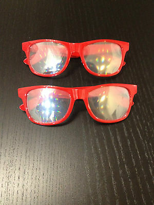 2 PACK - Diffraction Rave glasses for EDM shows, concerts and music festivals!
