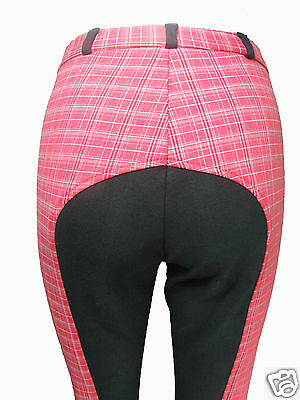 "!! Clearance X Display !! Red Check Jodhpurs 32"" Uk14"