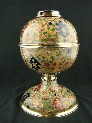 Stunning & Rare Fischer / Zsolnay Of Budapest Oil Lamp Base With Drop In Font