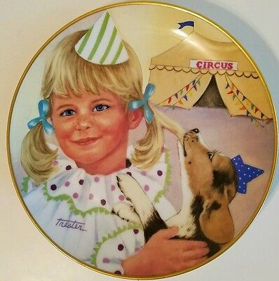 Beagle 1981 Kaiser Pigtails and Puppies Collector Plate Lorraine Trester