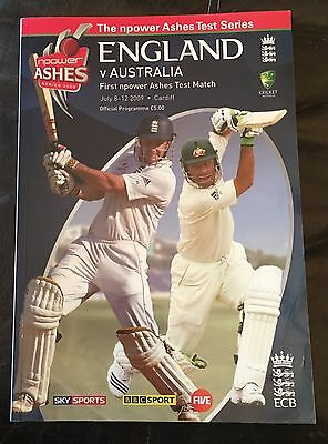 England V Australia 1st Ashes Test Match 2009 At Cardiff Programme